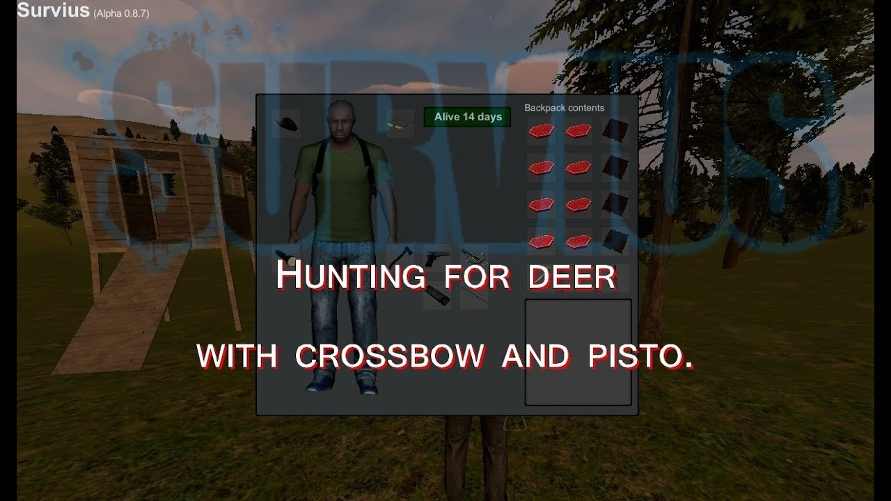 Video - Survius - Hunting for deer with crossbow and pistol