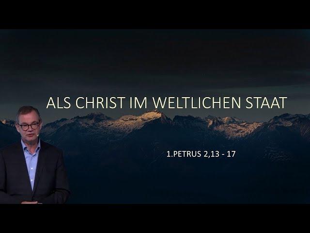 Als Christ im weltlichen Staat - Pflichten und Grenzen des zivilen Gehorsams