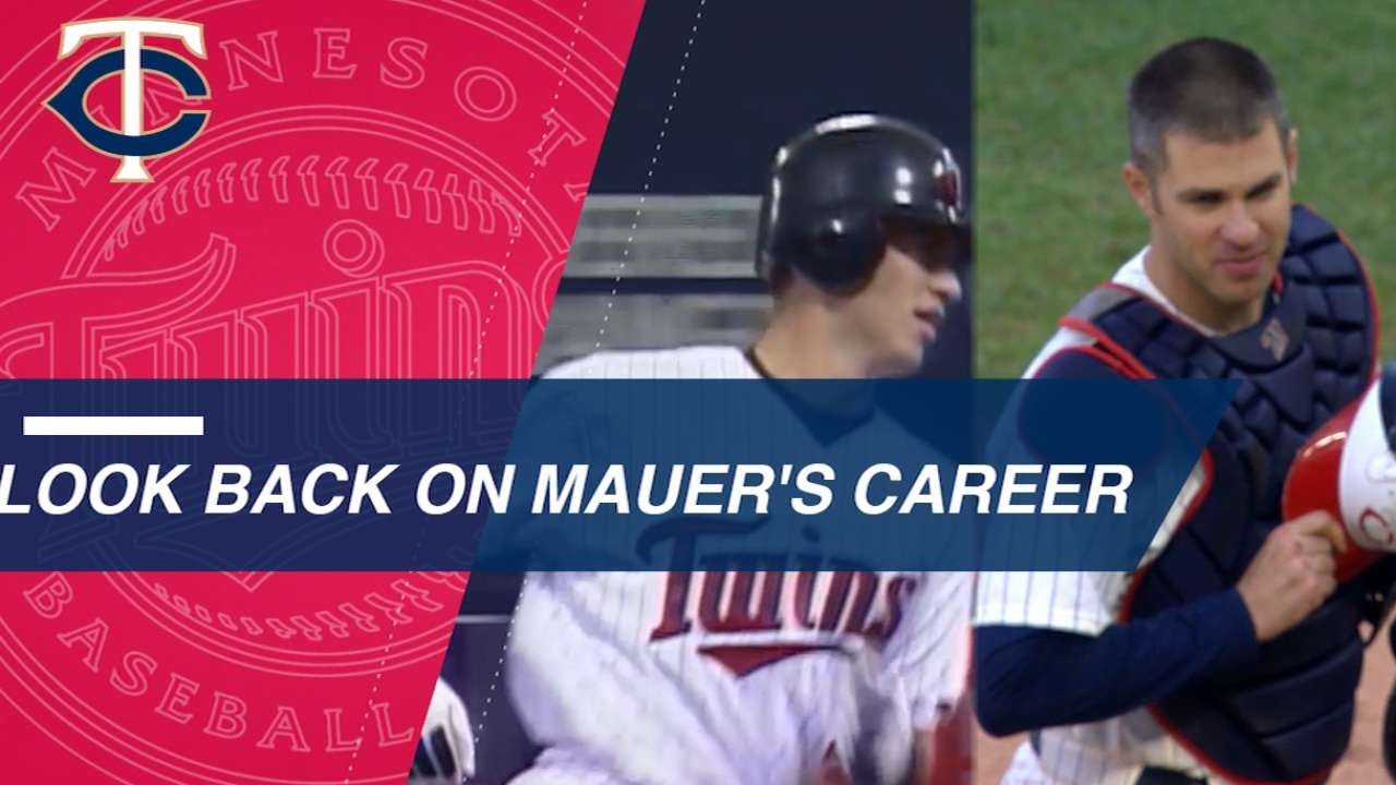 a849f1b5f4e Look back on Joe Mauer s most memorable moments - YouTube