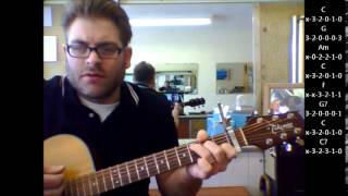 "How to play ""When a man loves a woman"" by Percy Sledge on acoustic guitar"