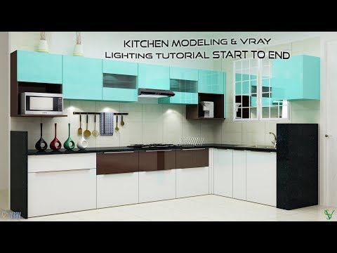 3D Max Kitchen Modeling & VRay Lighting Tutorial Start To End