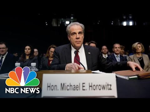 Horowitz: FBI Failed To Meet 'Basic Obligations' In FISA Applications   NBC News