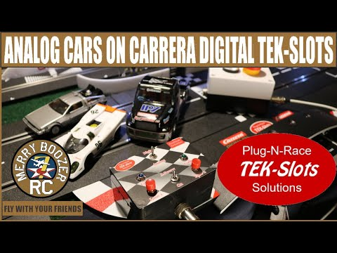 Tek-Slots How to run Analog cars On Carrera Digital 132 Track With The Flip Of A Switch!