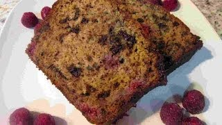 Dark Chocolate Raspberry Banana Bread Recipe