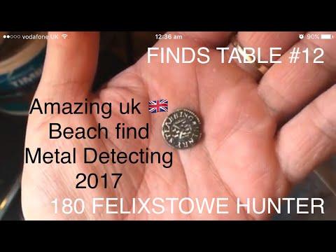 Rare find UK 17th .Century beach treasure Metal Detecting FINDS TABLE #12 180 Felixstowe Hunter 2017