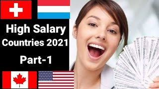 Top 10 highest salary paying countries in the world 2020 /countries with the highest average salary