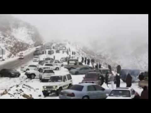 Tanda hari Kiamat  semakin dekat, dengan turunnya salju di Arab Saudi