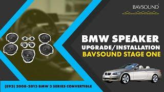 bavsound stage one speaker upgrade install e93 08 13 bmw 3 series convertible
