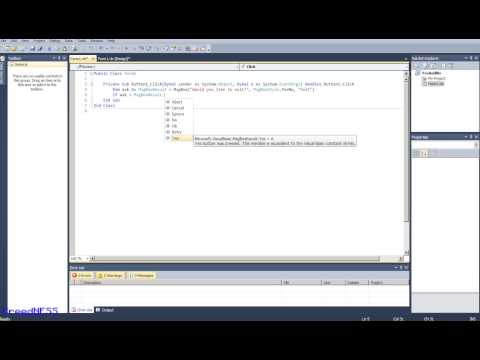 Yes-No-Cancel Message Box in Visual Basic 2008-2015 [Tutorial] avi