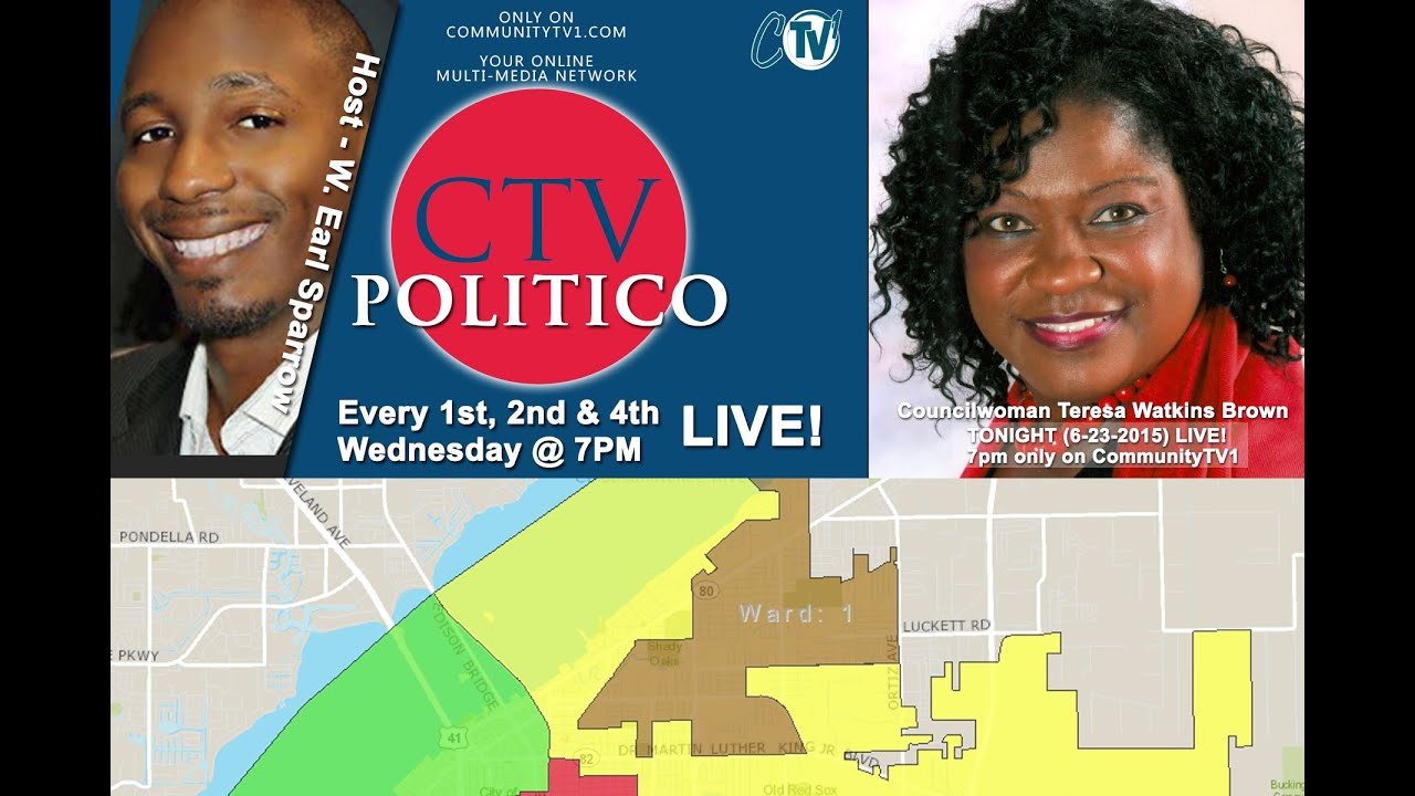 (6-24-215) CTV POLITICO - with studio guest Ward 1 Councilwoman Brown