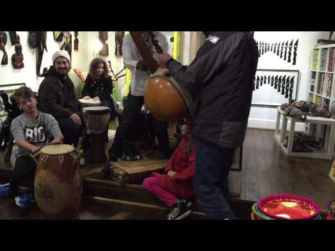 Arts and Crafts of Africa musical story telling with Usifu Jalloh