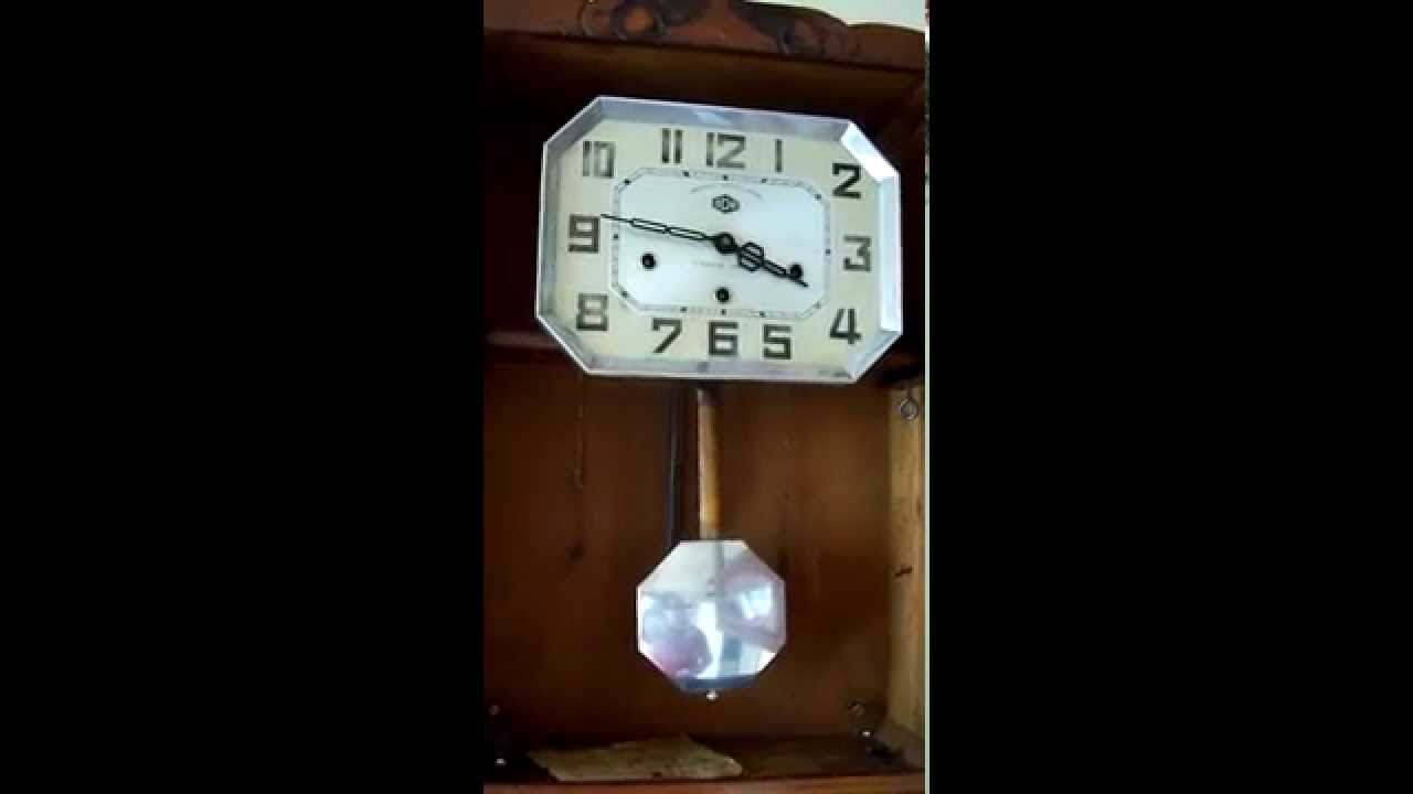 French Odo 24 Westminster chime wall clock YouTube