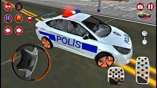 Türk Polis ve Araba Oyunu Similatörü 3D Android Gameplay   Polis Oyunu Oyna FHD