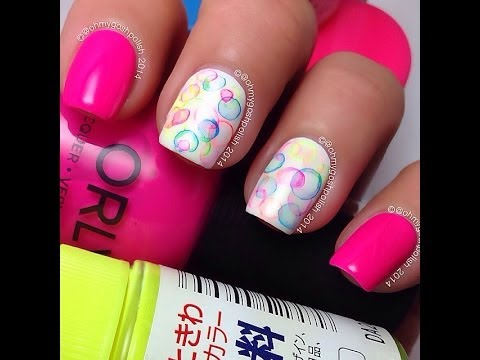 Bubble Nail art - Bubble Nail Art - YouTube