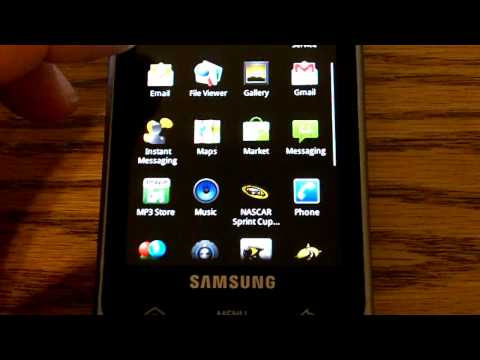 Samsung Moment Android 2.1 After Installation