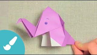 Elefante origami fácil I Origami elephant easy
