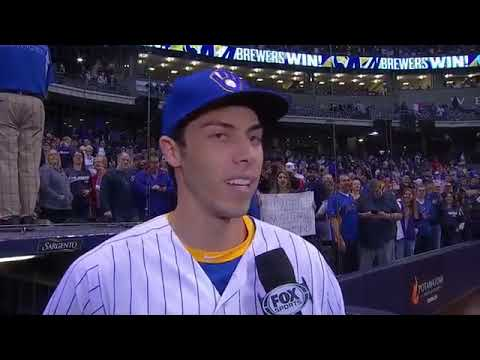 Brewers' Christian Yelich after hitting two more home runs
