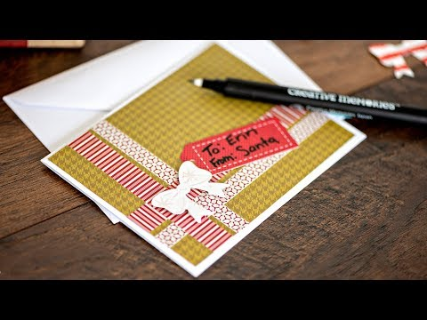 Season's Greetings Washi Tape Card Project By Creative Memories