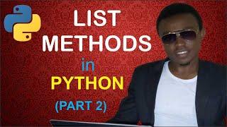 List method in python (part 2) |insert(), remove(), pop(), reverse(), index(). Video