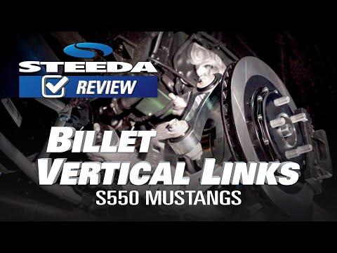 Steeda S550 Mustang Billet Aluminum Vertical Links with Delrin Bushings All  (2015-2019)