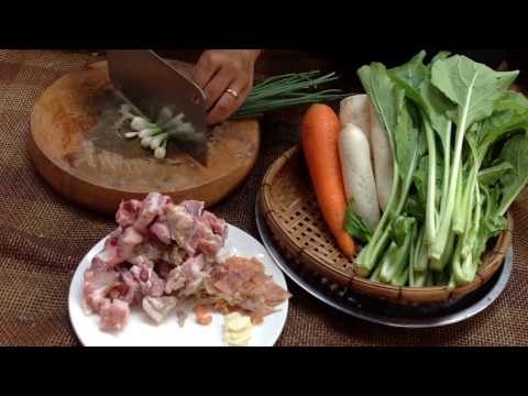 Family Healthy Soup, Pork Soup With Mix Vegetable, Healthy Home Village Food