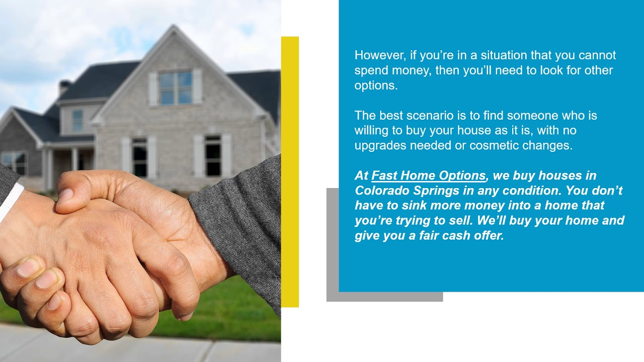 Sell Your House Quickly In Colorado Springs