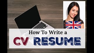 HOW TO WRITE A CV  / RESUME: Learn Business English / LIVE BRITISH ENGLISH LESSON