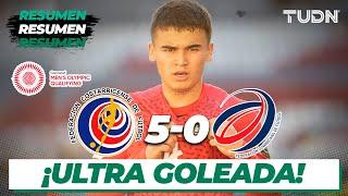 Resumen y goles   Costa Rica 5-0 República Dominicana   Preolímpico Tokyo 2020   TUDN