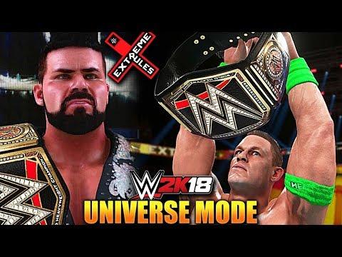 WWE 2K18 Universe Mode #13 'WWE TITLE MATCH!' (EXTREME RULES PPV Part 2)