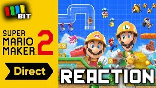 Reacting to the Super Mario Maker 2 Direct (5/15/2019) [TetraBitGaming]