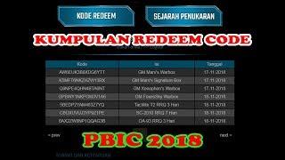 KUMPULAN REDEEM CODE PBIC 2018 Hari Kedua!! - GIVE AWAY AKUN MAYOR FT!