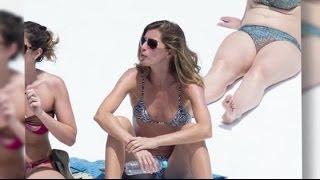 Gisele Bundchen Models Bikini on Yacht With Family | Splash News TV | Splash News TV