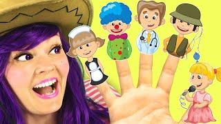 La Canción de la Familia Dedo con Profesiones | Canciones Infantiles con Lily Fresh