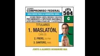 Lista 504C Maslatón Diputado, elecciones primarias Argentina 2013