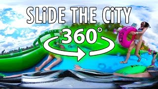 slide the city 360 vr in edmonton ab   samsung gear 360 virtual reality water slide experience