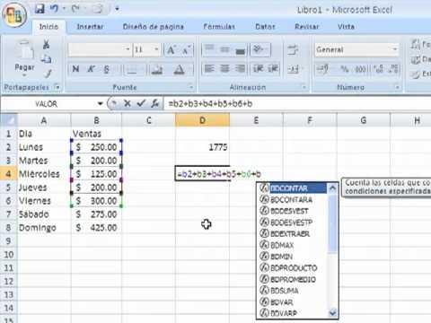 Funci n suma en excel simplexcel youtube for Como hacer una nomina en excel con formulas