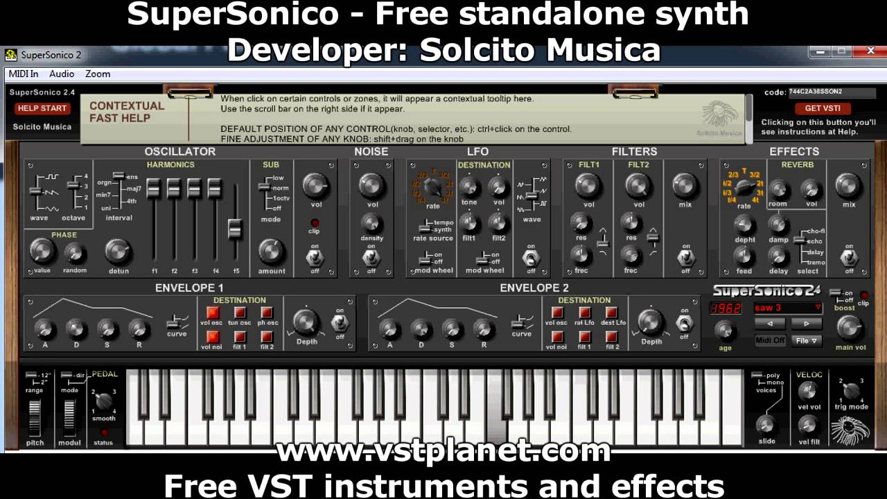 SuperSonico - Free standalone synth - vstplanet com