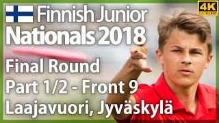 Finnish Junior Nationals 2018, Part 1/2 - Front 9, Final Round @ Laajavuori. Finnish commentary [4K]