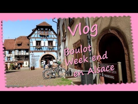 Vlog ... Beaucoup de boulot  Week end en Alsace ...