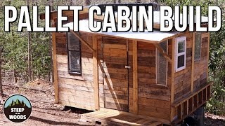 Build a Tiny Cabin in the Woods - COMPLETE BUILD!