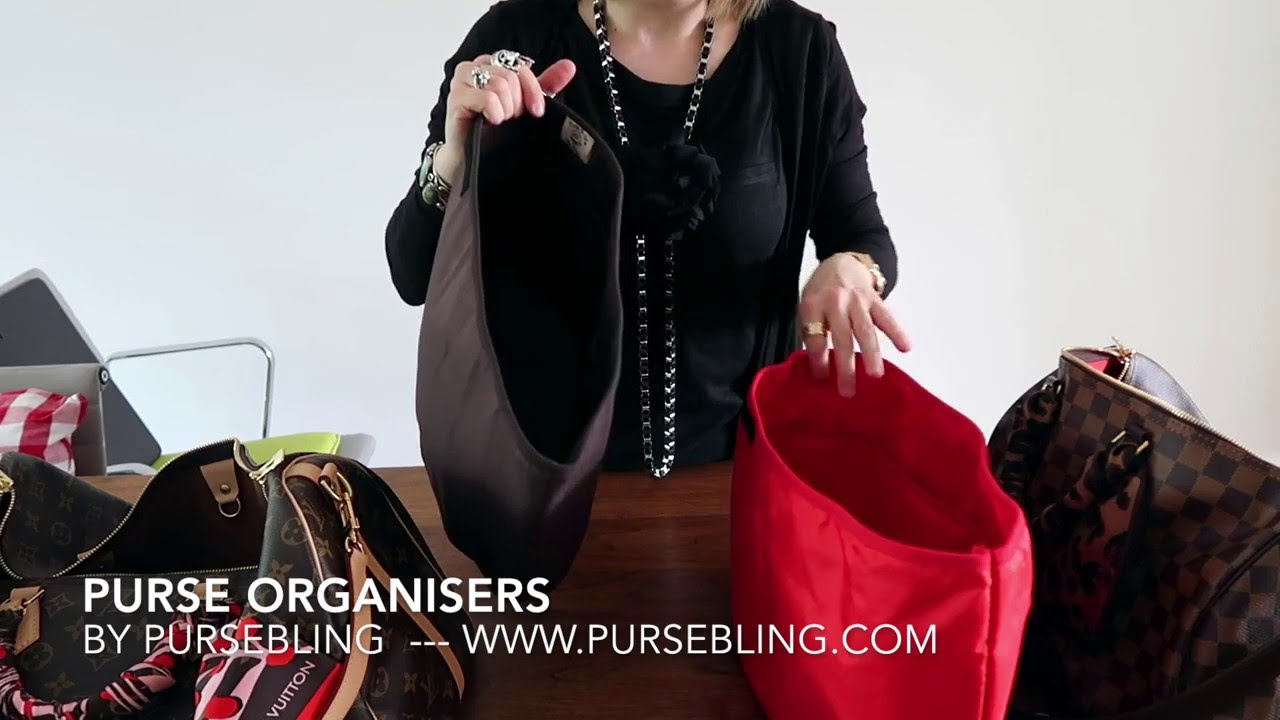 d0c286972f37 PurseBling Organisers   Base Shapers for LV Speedy 35 40 Review - YouTube