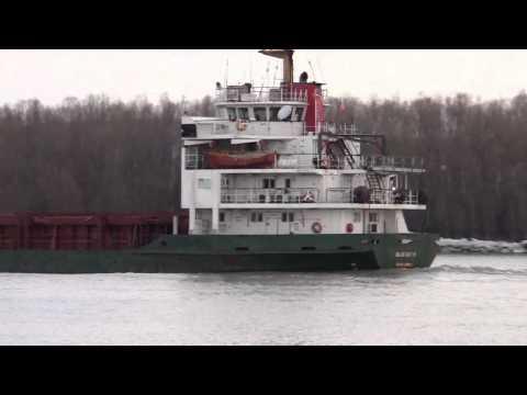 Cargo ship BLUE SKY M ,Danube river 61mile, Reni-Orlivka,2012.marc.14.
