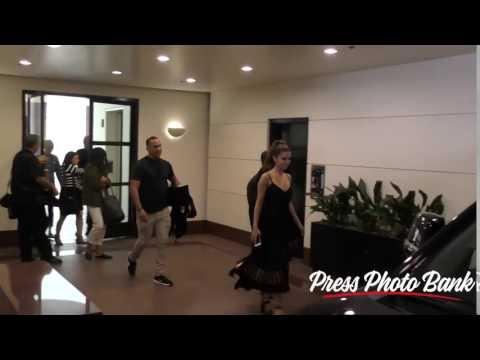 Selena Gomez Leaving Radio Disney in Burbank CA