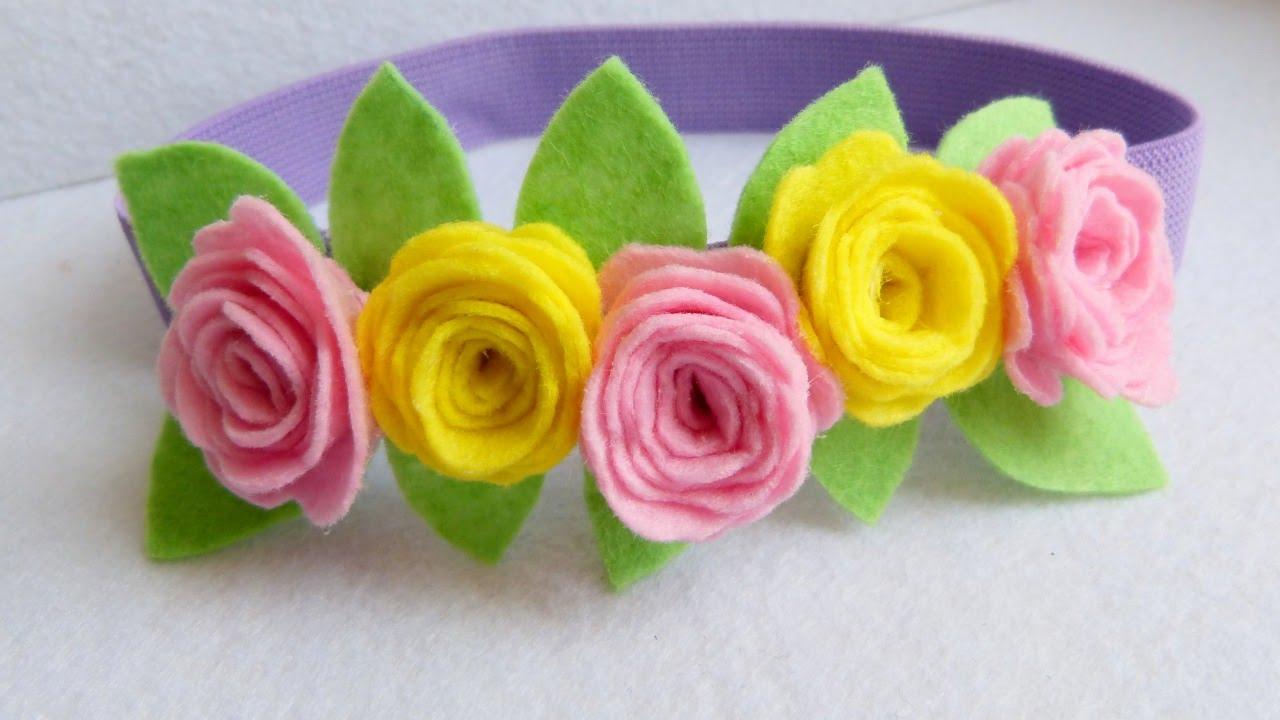 How To Make a Pretty Felt Flower Headband - DIY Style Tutorial -  Guidecentral - YouTube f2a087b111d