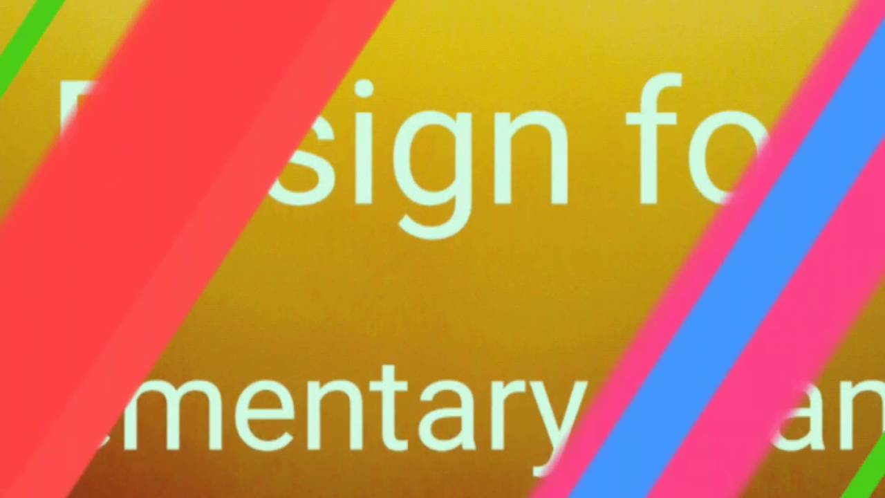Design For Elementary Exam Youtube