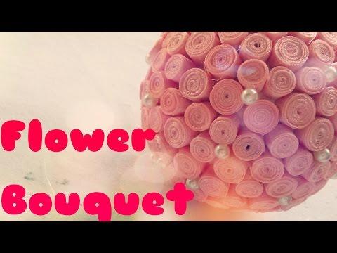 DIY - Cách làm quả cầu hoa bằng ruy băng