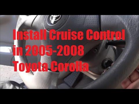 Installing Cruise Control in 2005-2008 Toyota Corolla