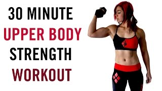 30 Minute Upper Body BLAST Workout - Strength with Dumbbells