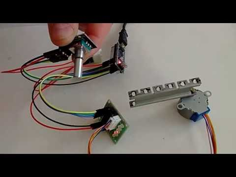 Arduino nano and visuino control stepper motor with for Arduino encoder motor control