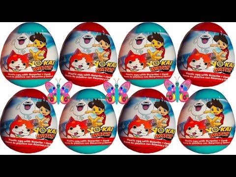 8 huevos sorpresa de juguetes para niños de Yokai Watch la pelicula en español 2017 Yo-kai watch 2